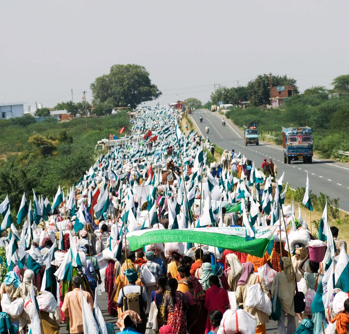 Foot march for land reforms. Source: Ekta Parishad