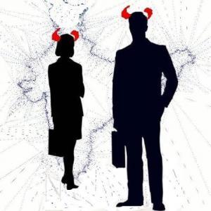 Devil wears the suit.