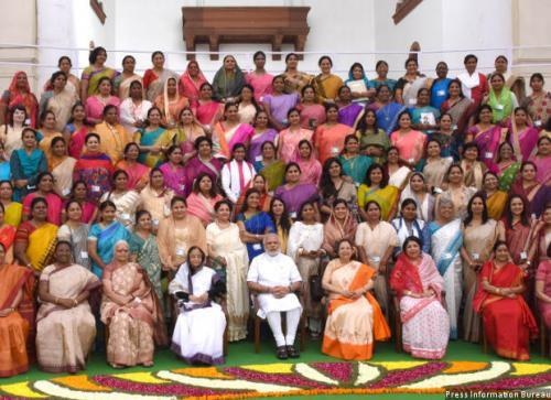 Prime Minister Narendra Modi at the valedictory session of the National Conference of Women Legislators. Source: PIB