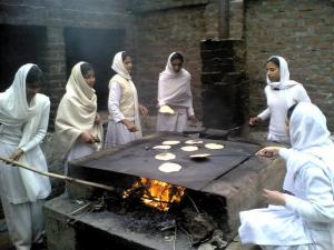 There's no imparting of education. Girls learn what they practice. Source: Surendra Bansal